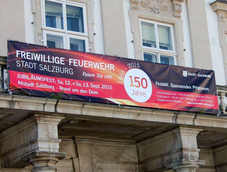 Außenwerbung 150 Jahre FFW Salzburg