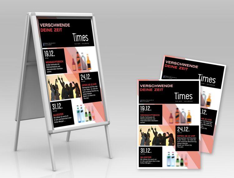 Plakat & Flyer Times Bar